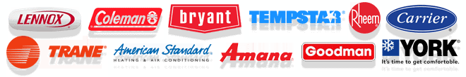 We service and repair all major brands of air conditioners and furnaces.