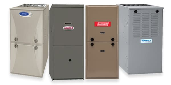 We service and repair all major brands of furnaces and air conditioners
