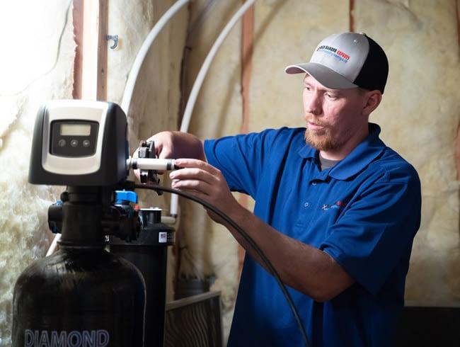 Plumbing in Salt Lake City,  Installing a water softener.