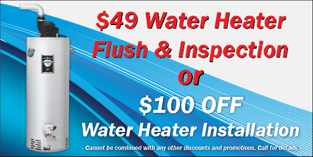 Utah Water Heater Flush and Inspection Coupon